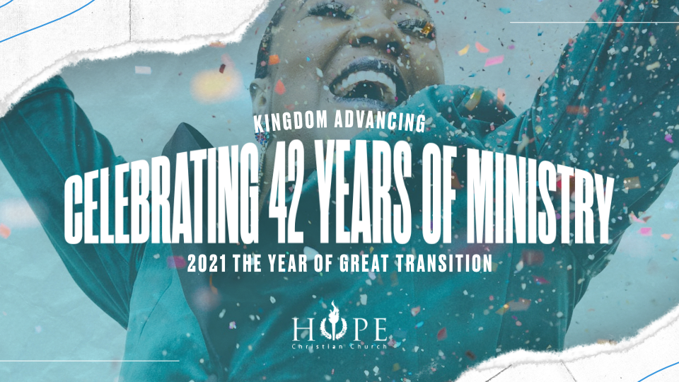 You're Invited! Celebrate 42 years of ministry with us during the month of April.